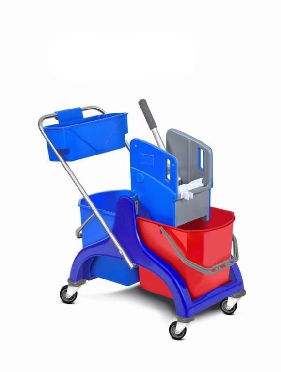 Upratovací vozík plastový 2 x 25l vedrá so žmýkačom
