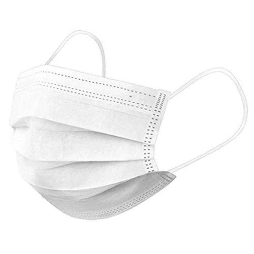 Ochranné jednorazové 3-vrstvové rúška, BIELE, 10ks/bal